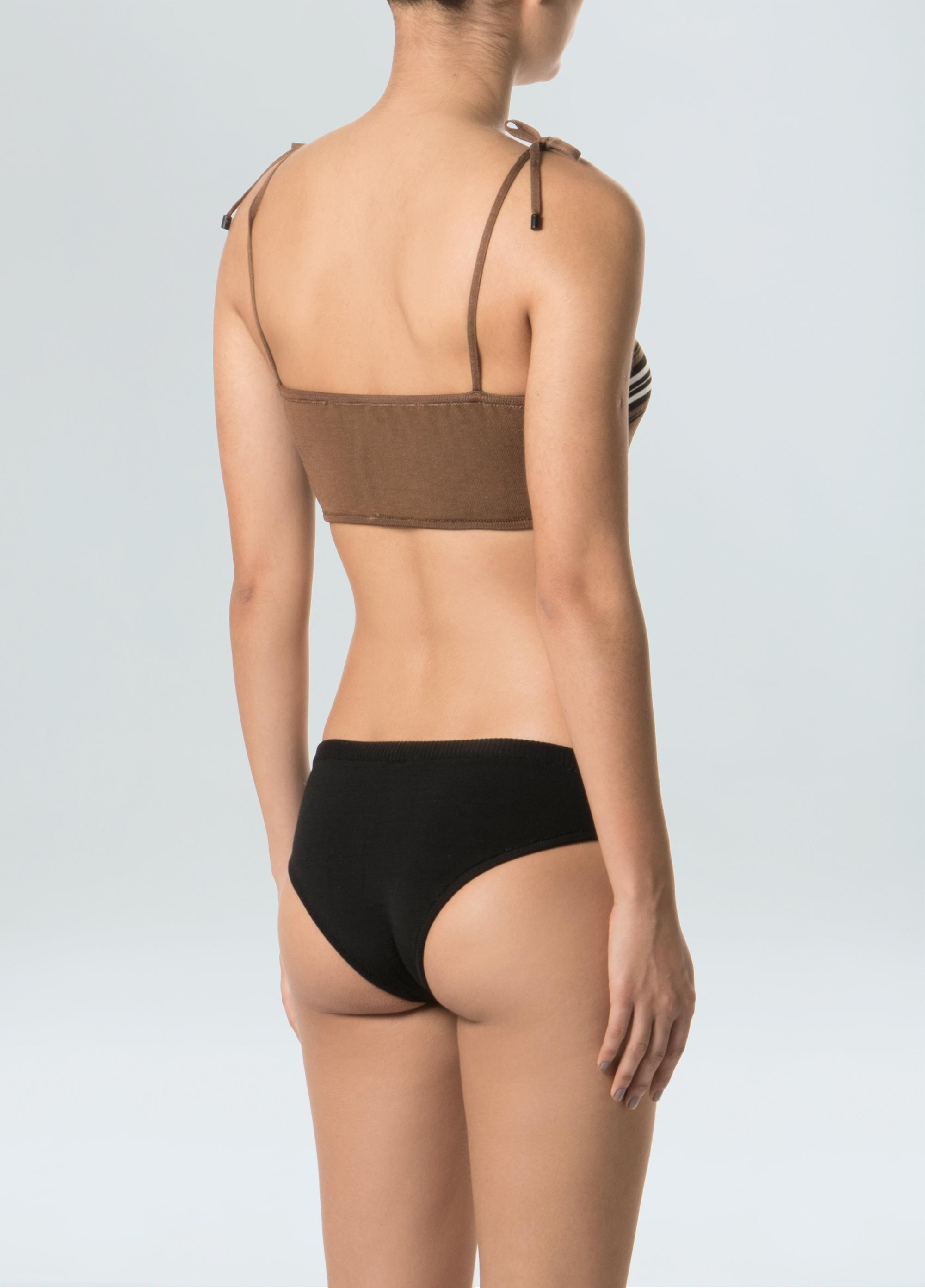 Women's Striped Jute Knit Bikini