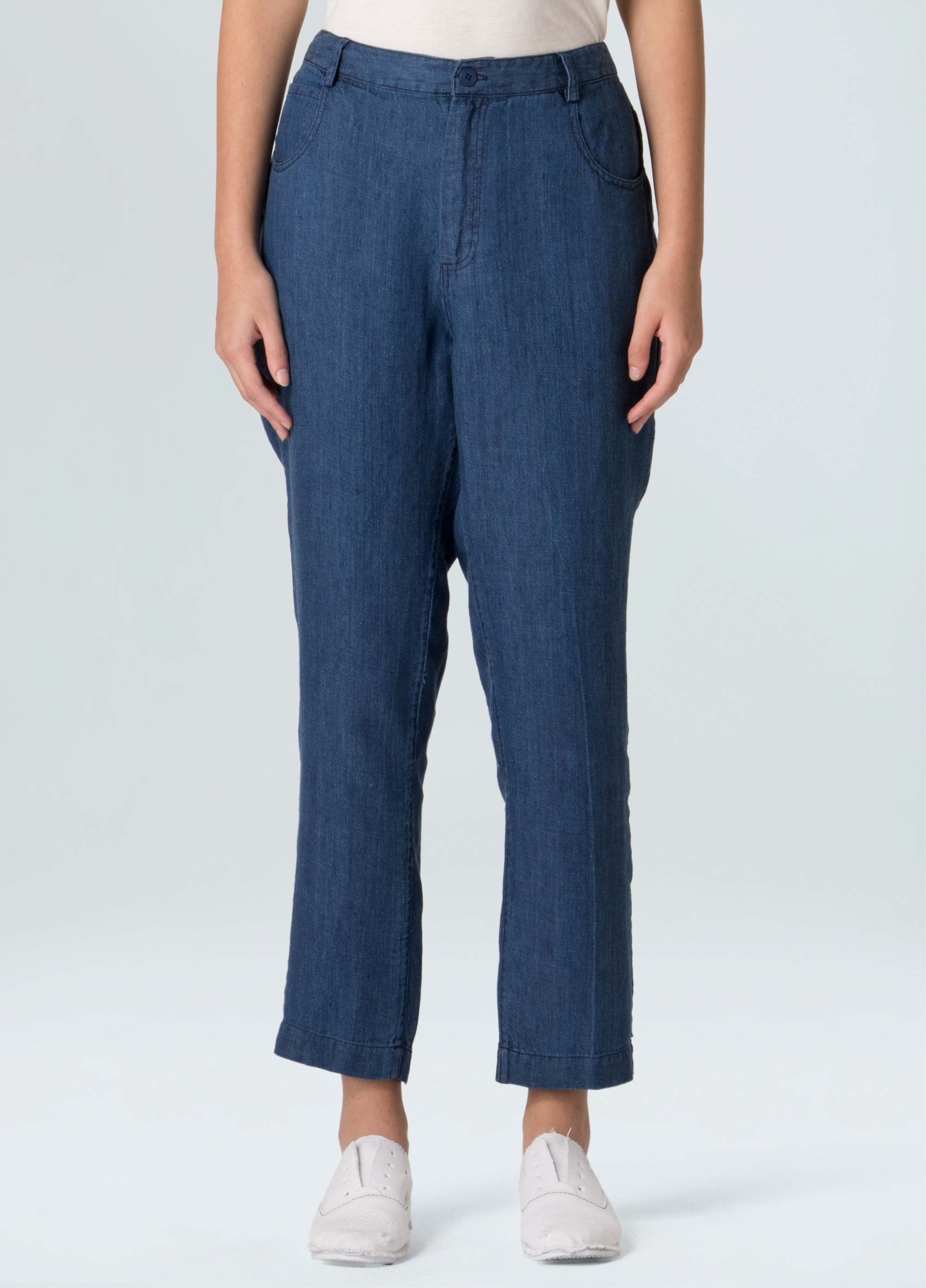 Women's Crop Linen Pants