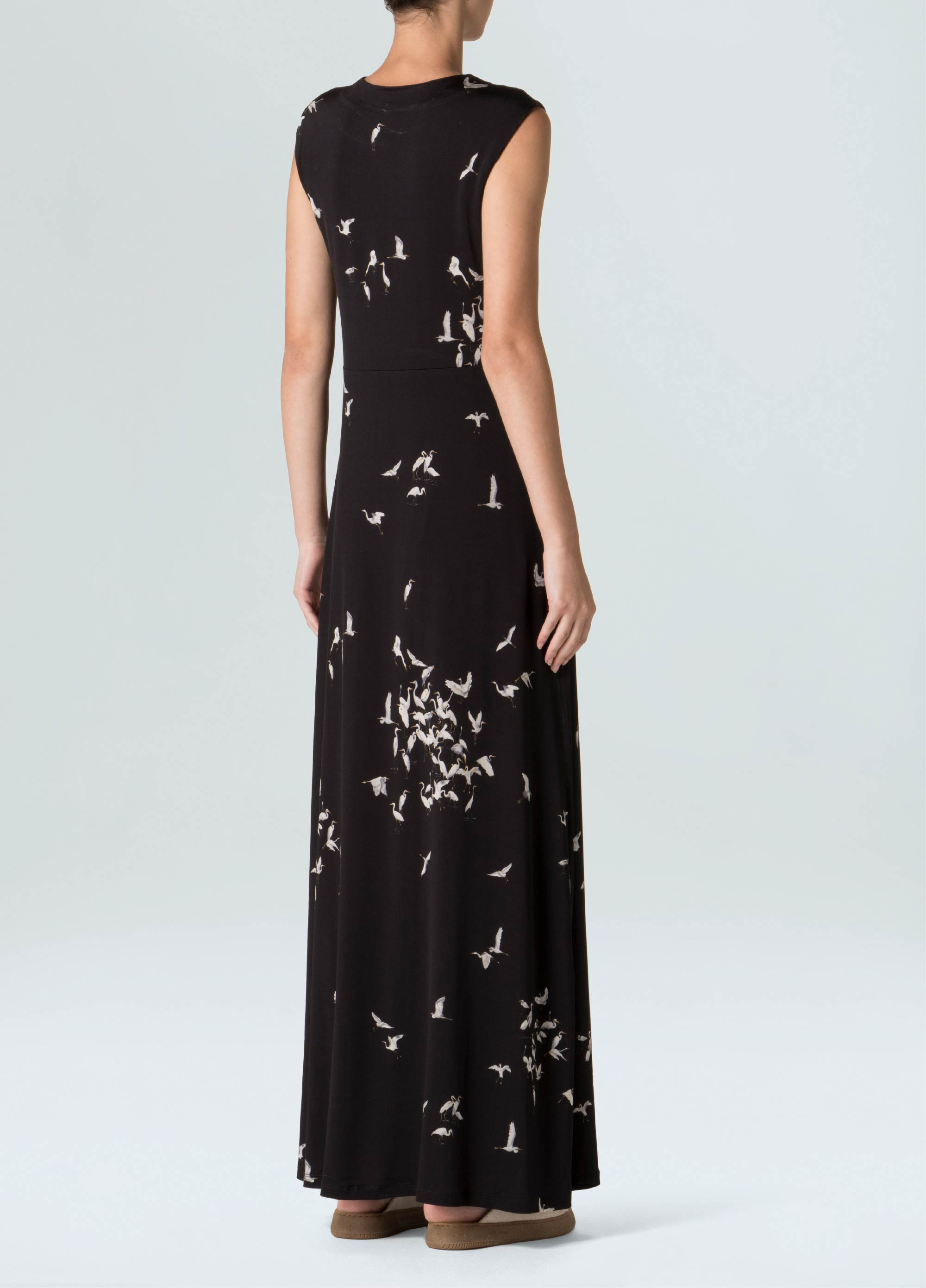 Heron Black Long Dress