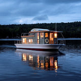 Just Add Water Floating Camps, Rangeley Maine