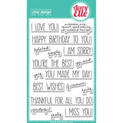 Avery Elle - Handwritten Notes - Clear Stamp Set - Crafty Wizard