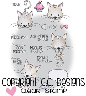 C.C. Designs - Meowy - Clear Stamps - Crafty Wizard
