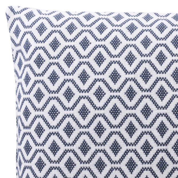 Viana cushion cover, blue grey & white, 100% cotton | URBANARA cushion covers
