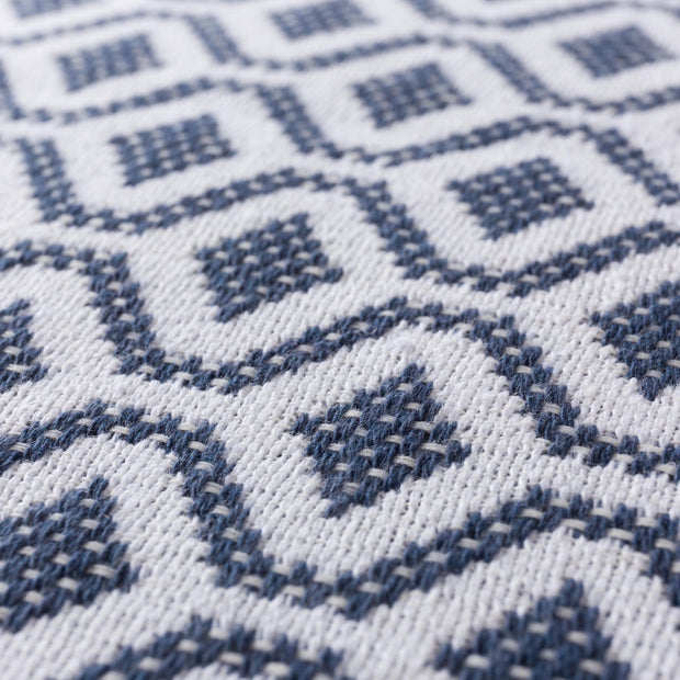 Viana cushion cover, blue grey & white, 100% cotton |High quality homewares