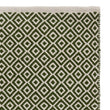 Tenali runner, olive green & off-white, 100% cotton