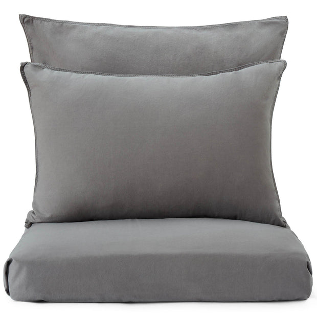 Luz duvet cover, charcoal, 100% cotton