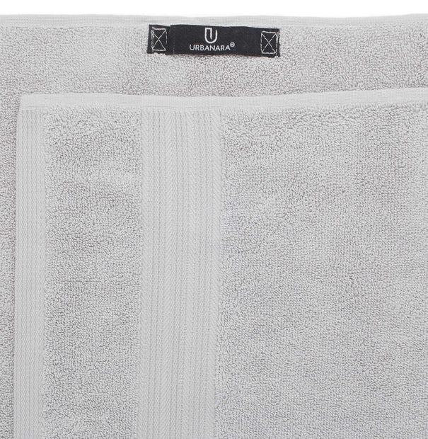 Salema hand towel, light grey, 100% supima cotton |High quality homewares