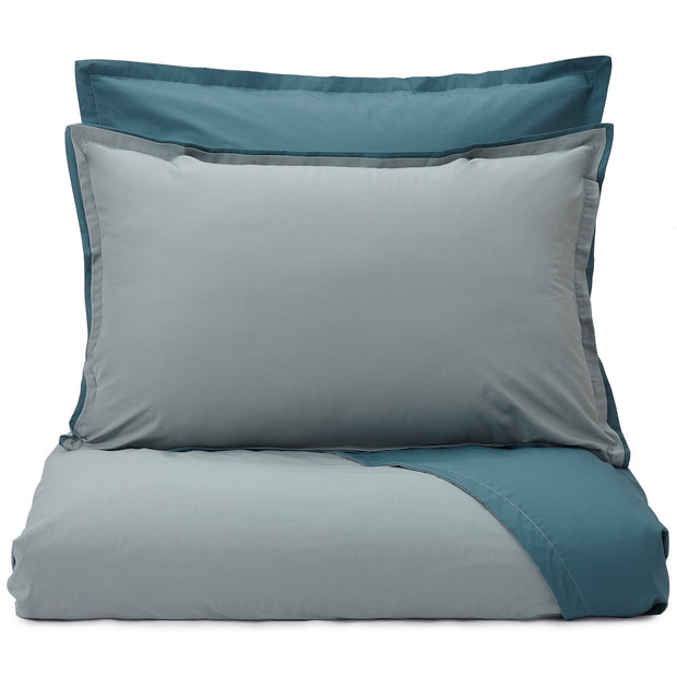 Abiul pillowcase, green grey & teal, 100% combed cotton