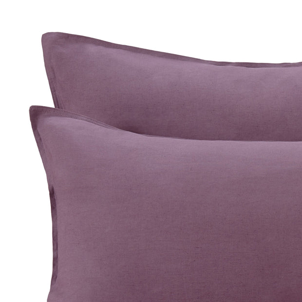 Bellvis Linen Bed Linen in aubergine | Home & Living inspiration | URBANARA