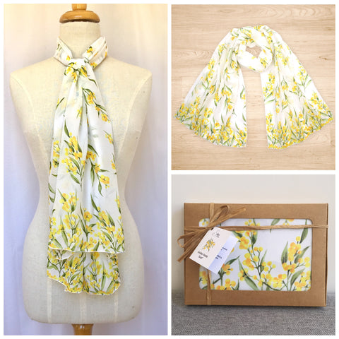 Australian Golden Wattle Scarf | Australian made scarf