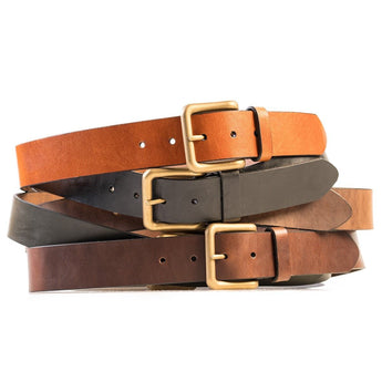 HELM Boots Accessories Wide Belt - Brass Buckle