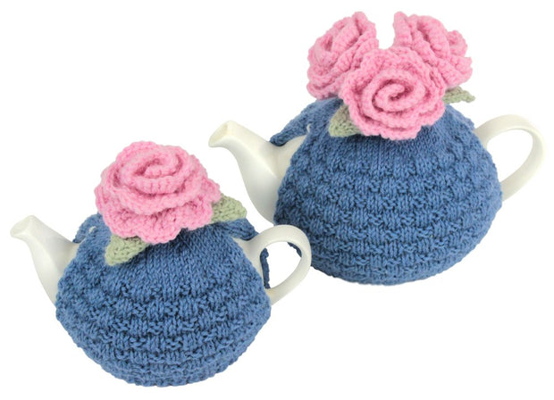 'Monet's Garden' - Royal Blue & Pink Roses