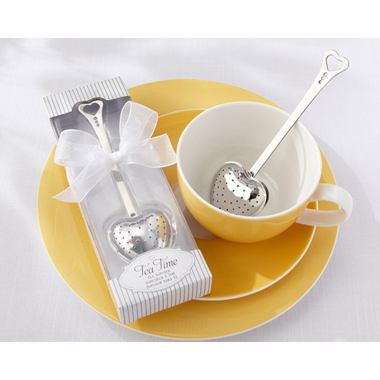 'Tea Time' heart shaped tea infuser