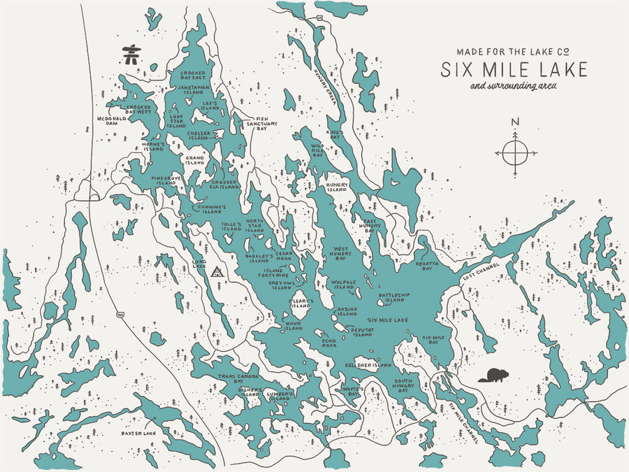 6 Mile Lake Map