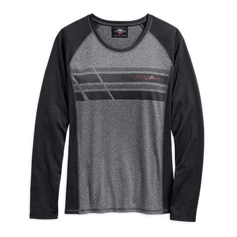 Women's Performance Wicking Long Sleeve Knit Top. 96348-19VW