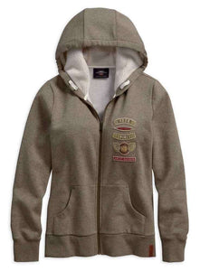 Genuine Harley-Davidson® Ladies Sherpa Fleece Lined Hoodie. 96373-19VP