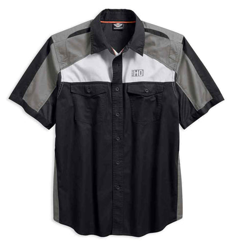 Men's Performance Vented Colorblocked Woven Shirt 96423-18VM