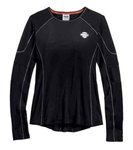 Women's Performance Vented Long Sleeve Tee, Black 99166-16VW