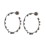 Element Hoops Black Plated