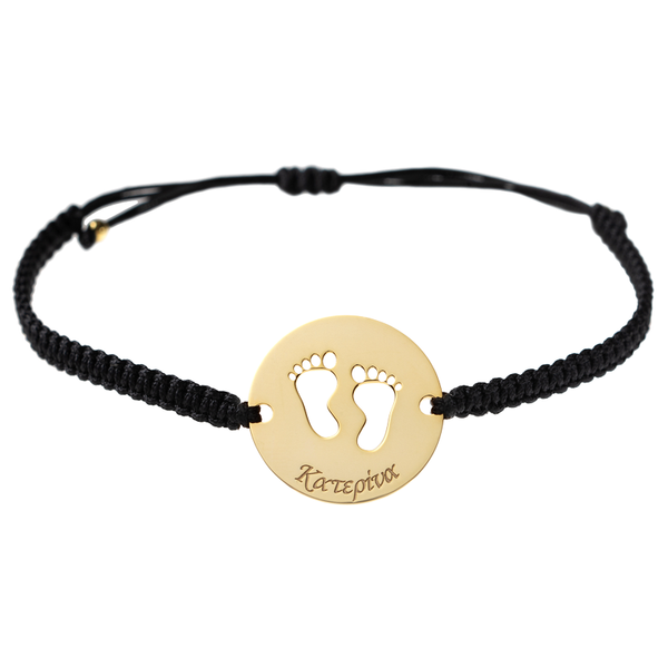 Footprints Personalized Bracelet