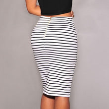 Load image into Gallery viewer, High Waist Striped Pencil Skirt - The Fashion Bliss By VL Enterprises