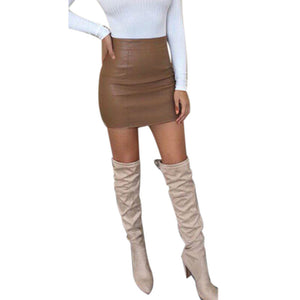 Leather, High Waist Pencil Skirt - The Fashion Bliss By VL Enterprises