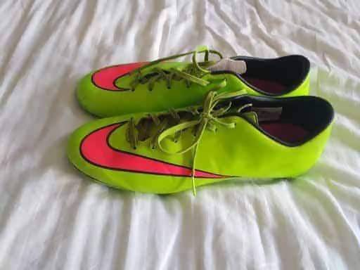 Nike Mercurial Uk 9 Sg Football Boots Electric Green - Footwear