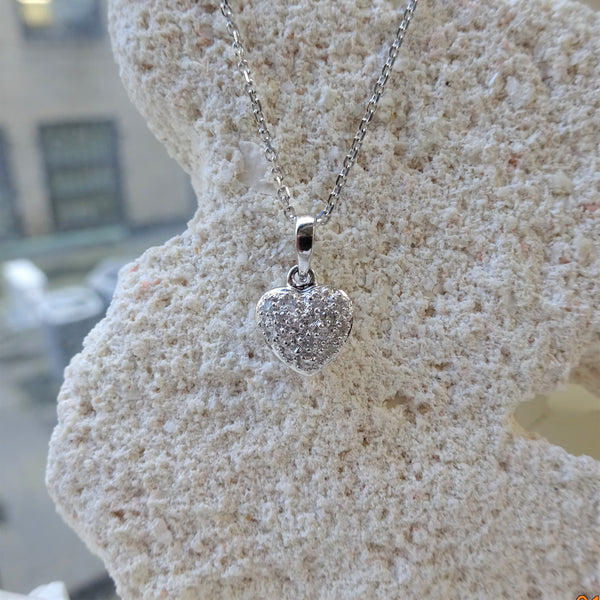 The Petite Pave Heart Pendant