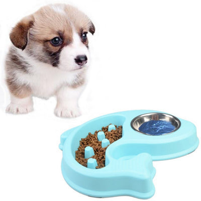 Pet Anti Choking Bowl Food and Water Feeder Slow