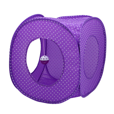 Collapsible Tunnel Foldable Polka Dot Tent Portable Cat Toy