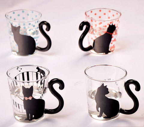 Cute Kitty Cups | Heat-safe Glass Mug | Great Gift Idea - Tao Te Tea Premium Whole Leaf Tea