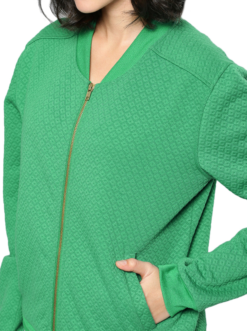 Green Self Design Tailored Jacket