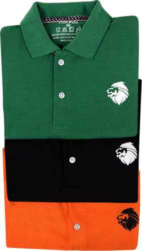 Combo of 3 Different Color Luxury T-Shirts for Men (Green, Black, Orange)