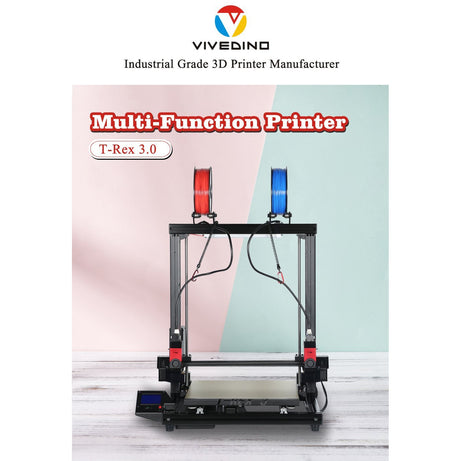 Formbot - Vivedino T-Rex 3.0 700MM Big Size IDEX 3D Printer w/ Optional Laser Engraver - Project 3D Printers