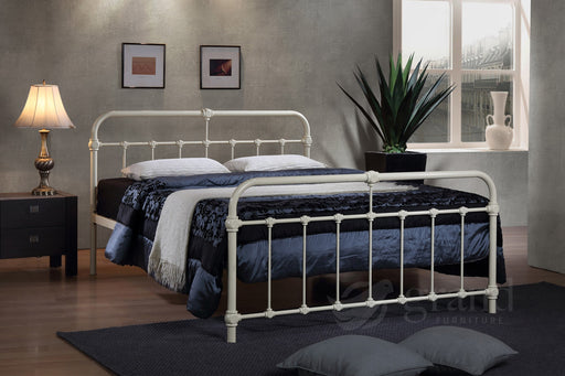 Mandy Hospital Style Cream Metal Bed Frame