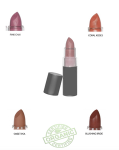Lipstick Organic and Natural  Vegan, Gluten Free, Cruelty Free