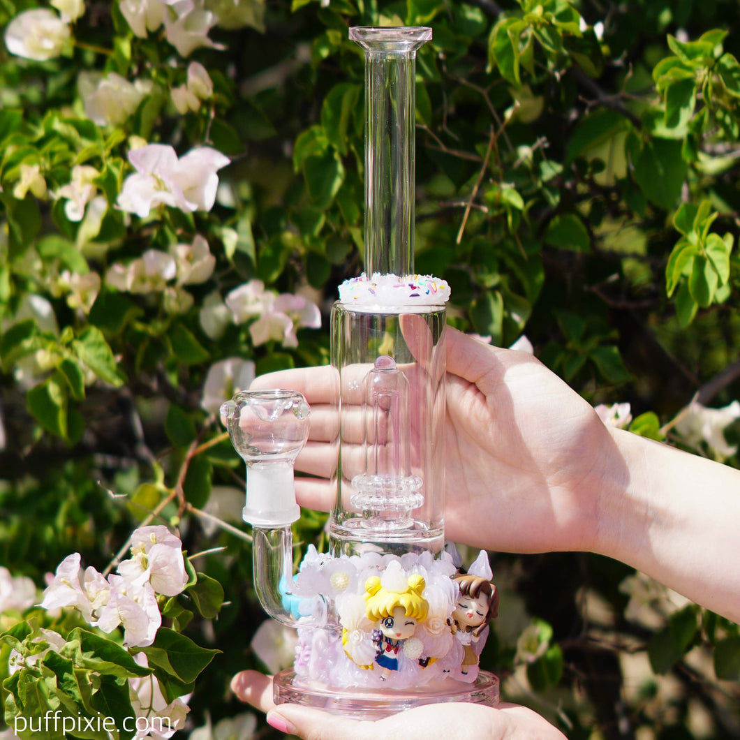 Ethereal Sweet Magical Moon Girls Bong Exclusively by Puff Pixie