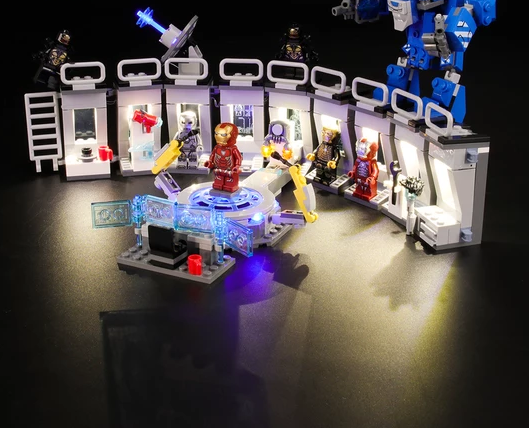 Light kit for Iron man lego set