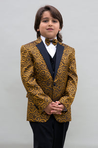 """Bellagio"" Kids Gold Tuxedo 5-Piece Set"