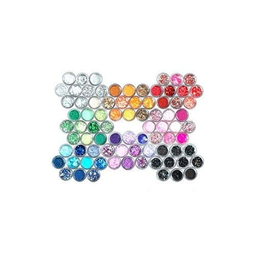 80x Acrylic NAIL ART Decoration Glitter Dust Powder Set