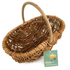 Nutley's Beautiful Small Hand-Made Rustic Willow Garden Trug Basket wicker