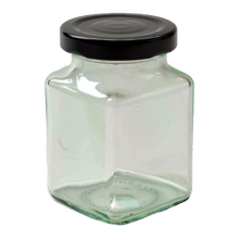 Load image into Gallery viewer, Nutley's square Glass Jam, Chutney, Preserve Jars Twist-Off Lids 200ml (7oz)