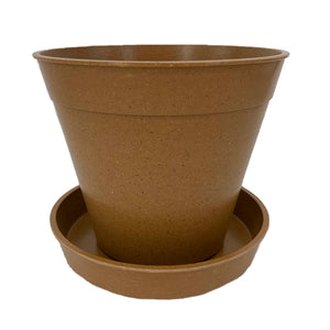 Haxnicks Bamboo Plant Pots and Saucers Biodegradable Compostable Free Delivery BPA Free Compost Biodegrade
