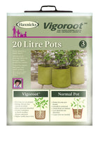 Load image into Gallery viewer, Haxnicks Vigoroot Fabric Planters (3pk): Select Litre Capacity