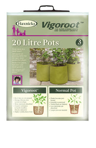 Haxnicks Vigoroot Fabric Planters (3pk): Select Litre Capacity