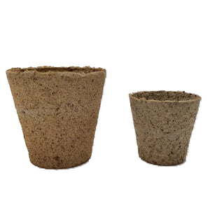 Nutley's 6cm and 8cm Round Jiffy Peat-Free Fibre Plant Pots Duo