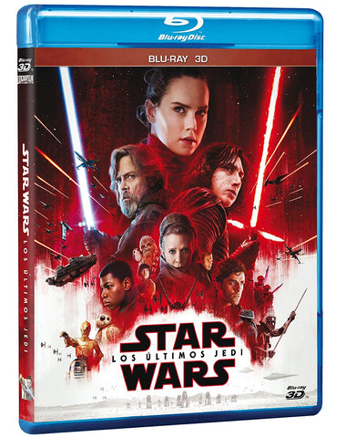 Star Wars Episodio 8 Los Últimos Jedi Blu-ray 3D