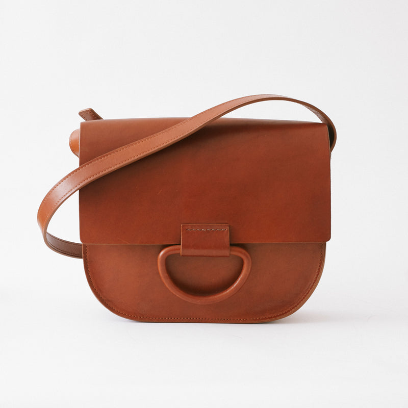 Natural Italian Leather Logan Bag made by Crescioni in Los Angeles