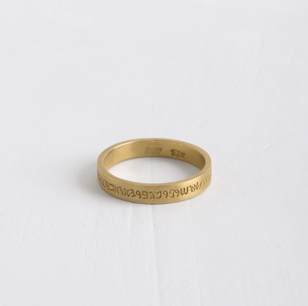Engraved Flat Wide Band