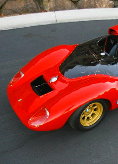 See Peter Brock Designed 1965 Shelby-DeTomaso P70 at Braille SEMA booth